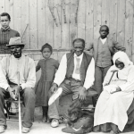 Harriet Tubman with rescued Slaves