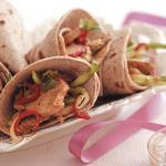 Mini Red Thai Pork Chapati Wraps