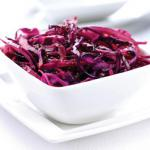 Braised red cabbage with apple and mustard seeds