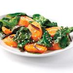 Warm Chard Salad with Carrots and Balsamic Vinegar