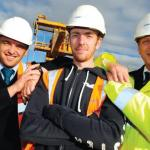 Lakeside site manager Paul Williams, apprentice Liam Sutton and production director Malcolm Ceney