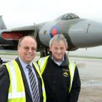Newby Castleman flies in to help Vulcan Bomber