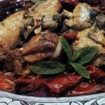Chicken with Red Peppers and Spearmint