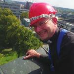 The Dean of Coventry Leads 50 Strong Team off Cathedral Roof To Tackle Poverty