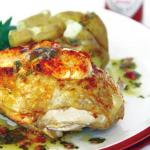 Spicy Tabasco® Cheese Stuffed Chicken Served with a Tangy Herb Salsa